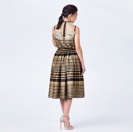 """Gilt rosegarden"" wide dress"