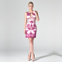 """Flowers in a Pot"" cocktail dress"