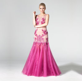 """Flowers in a Pot"" tulle evening gown"
