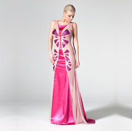 """The Water Lily Pond"" evening gown"