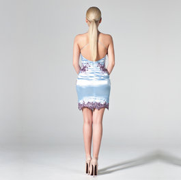 """Bouqet of Mallows"" cocktail dress"