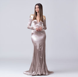 """Outer Space"" evening gown"