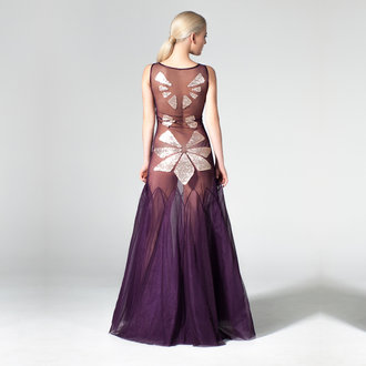 """Water Lilies"" tulle evening gown"