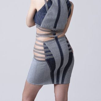 """Unknown dimension"" denim dress"