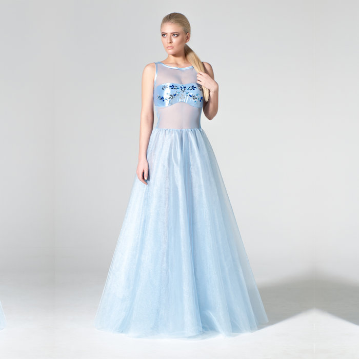 """Bonnieres"" evening gown"