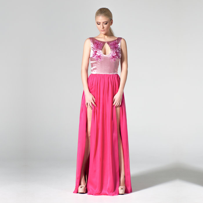 """Flowers in a Pot"" evening gown"